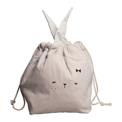 Small / Bunny (Mauve) PRE-ORDER: Fabelab Organic Cotton Storage Bags (Multiple Variants) - Naked Baby Eco Boutique