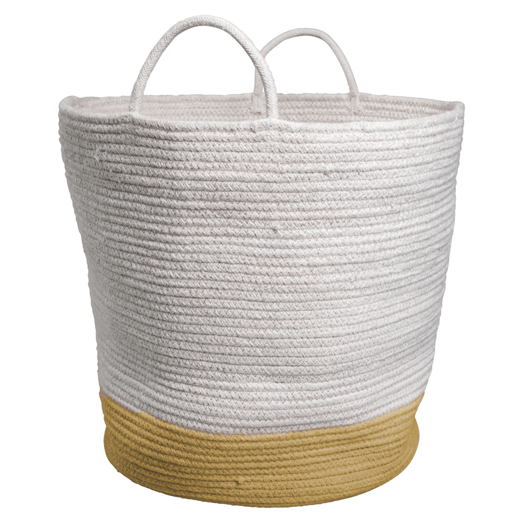 Ochre PRE-ORDER: Fabelab Organic Cotton Storage Basket (Multiple Variants) - Naked Baby Eco Boutique