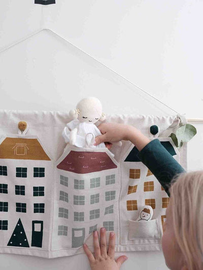 PRE-ORDER: Fabelab Organic Cotton Town Houses Advent Calendar - Naked Baby Eco Boutique