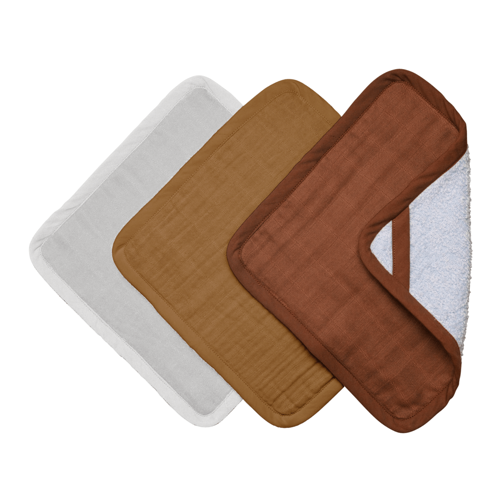 Fabelab Organic Cotton Wash Cloths - 3-Packs (Multiple Variants) - Naked Baby Eco Boutique