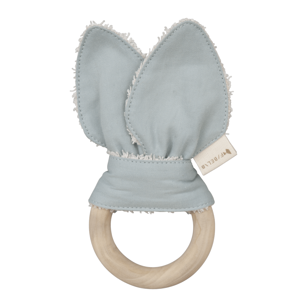 PREORDER: Fabelab Organic Cotton + Wood Cat Teether - Naked Baby Eco Boutique