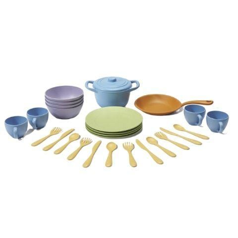 Green Toys Cookware & Dining Set - Naked Baby Eco Boutique