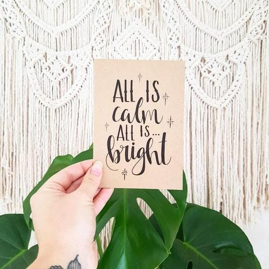 Holiday Card - All is Calm - Naked Baby Eco Boutique