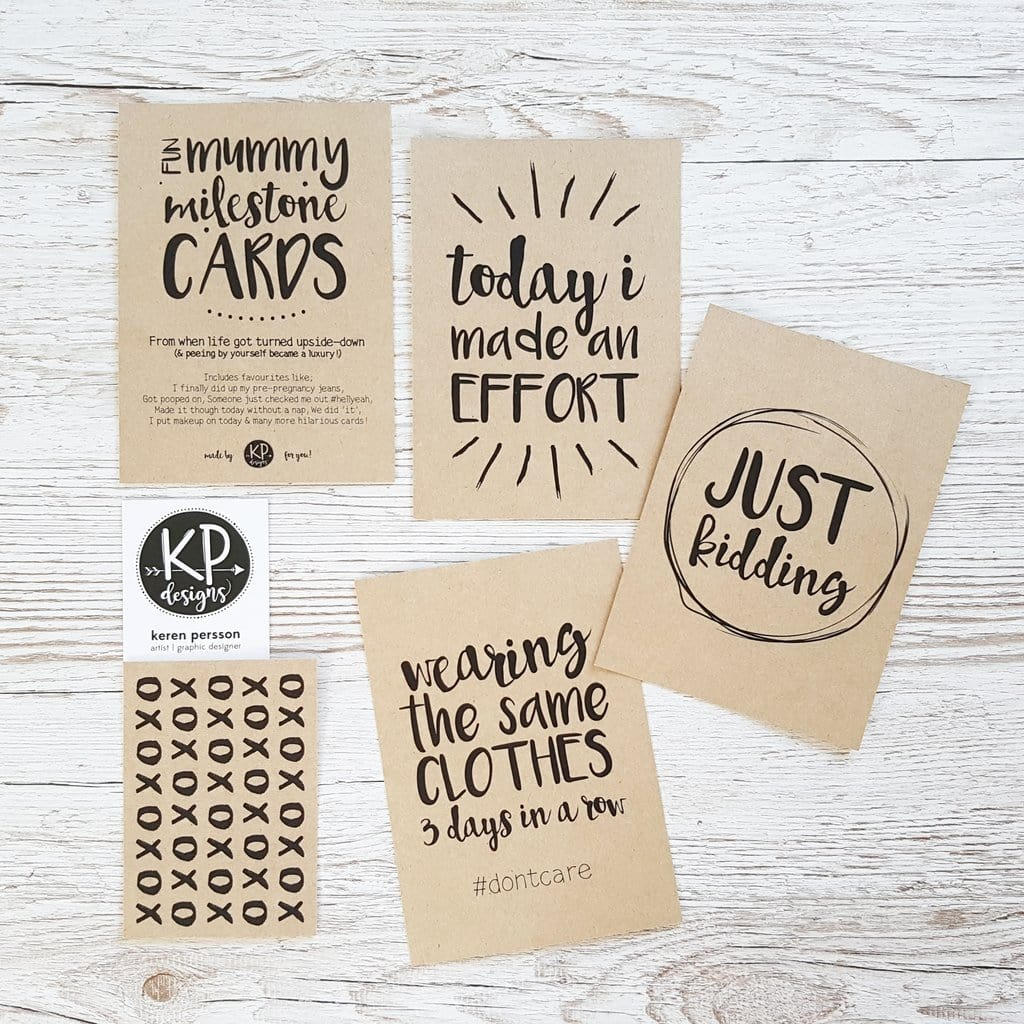 KP Designs Mummy Milestone Cards - Naked Baby Eco Boutique