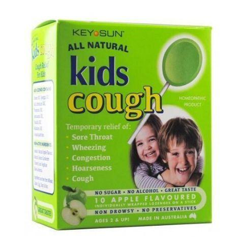 Key Sun All Natural Kids Cough Lollipops (Multiple Variants) - Naked Baby Eco Boutique