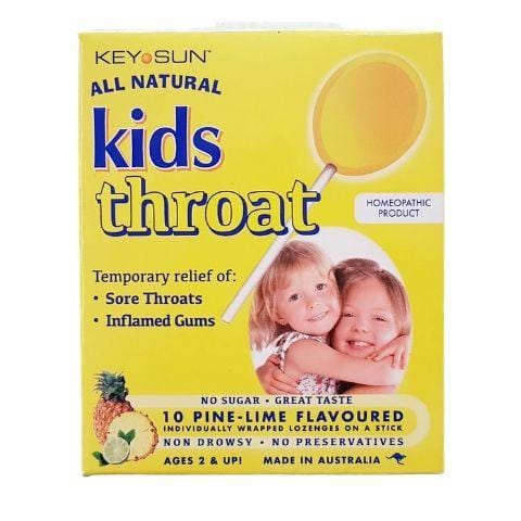 Key Sun All Natural Kids Sore Throat Lollipops - Naked Baby Eco Boutique