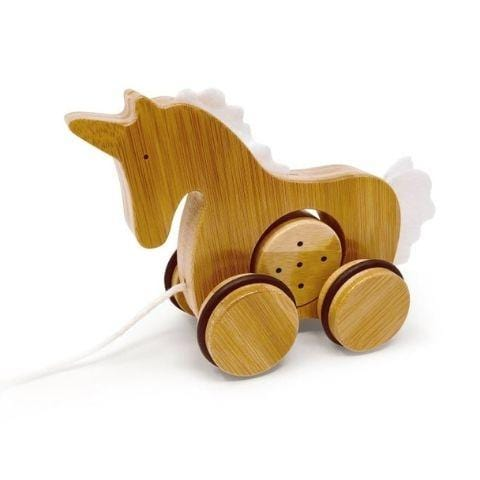 Unicorn Kinderfeets Bamboo Push & Pull Animals (Multiple Variants) - Naked Baby Eco Boutique