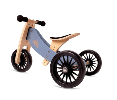 Blue Kinderfeets Tiny Tot PLUS Tricycle + Balance Bike - Naked Baby Eco Boutique