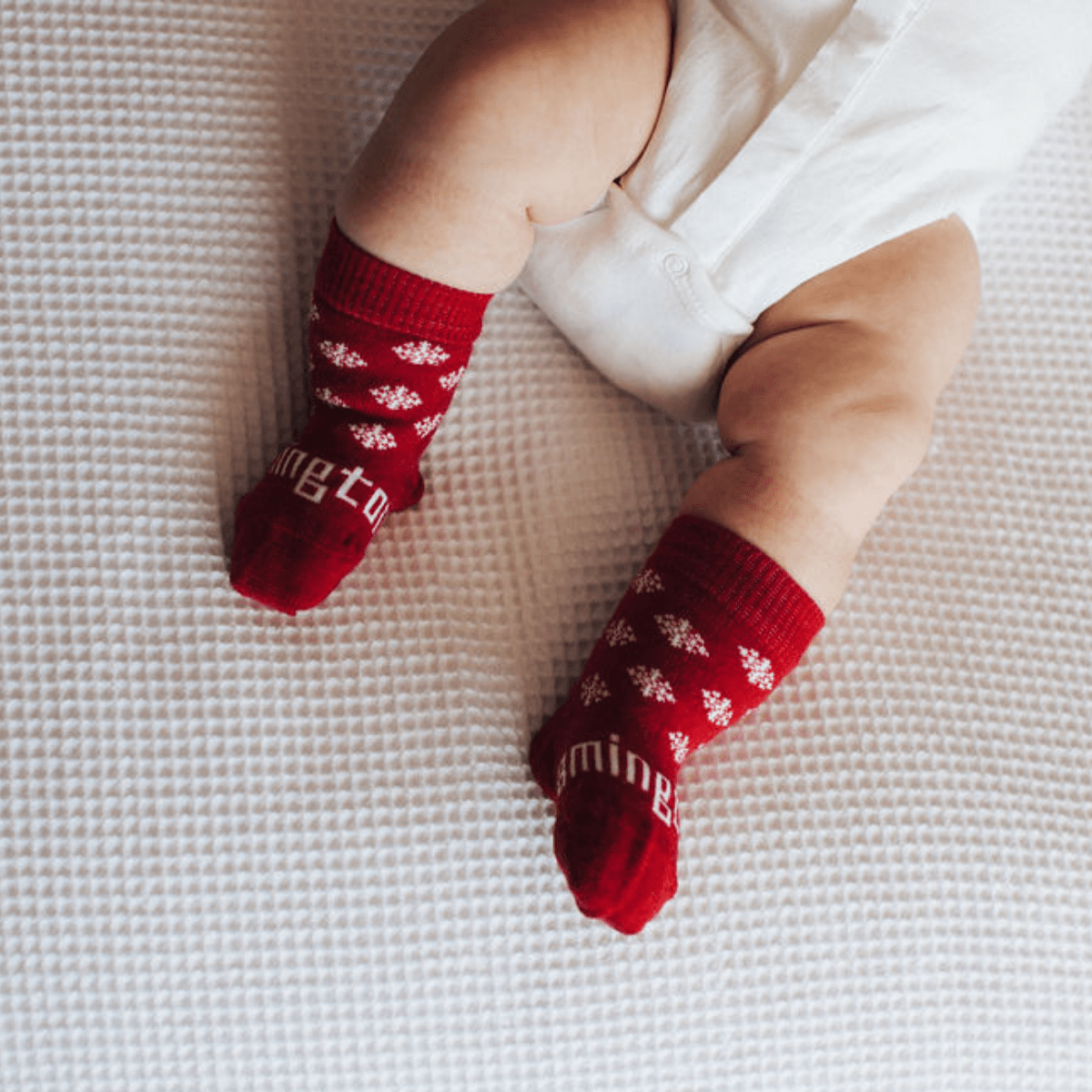 Lamington Merino Wool Christmas Socks - Frosty (Multiple Sizes) - Naked Baby Eco Boutique