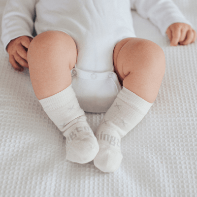 Lamington Merino Wool Socks - Newborn Naturals (Multiple Patterns) - Naked Baby Eco Boutique