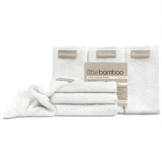 Little Bamboo Toweling Wash Cloths (3-Pack) - Naked Baby Eco Boutique
