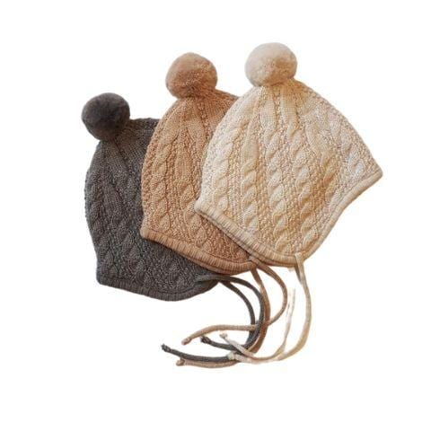 Lola & Me Merino Knit Bonnet (Multiple Variants) - Naked Baby Eco Boutique