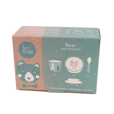 Love Mae Bamboo Baby Feeding Set (Multiple Variants) - Naked Baby Eco Boutique