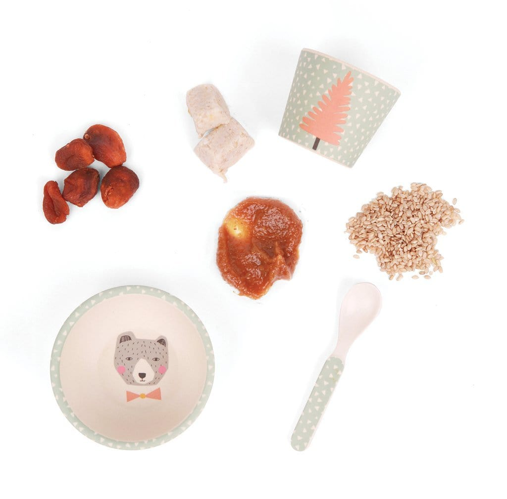 Bear Love Mae Bamboo Baby Feeding Set (Multiple Variants) - Naked Baby Eco Boutique
