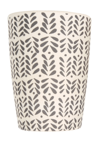 Love Mae Monochrome Bamboo Tumbler - Black on White - Naked Baby Eco Boutique