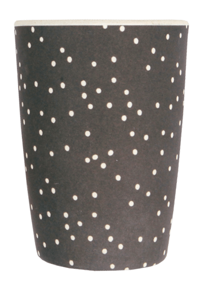 Love Mae Monochrome Bamboo Tumbler - White on Black - Naked Baby Eco Boutique