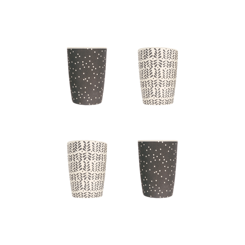 Love Mae Monochrome Mix Tumbler Set - 4-Pack - Naked Baby Eco Boutique