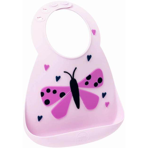 Butterfly Make My Day Silicone Baby Bibs (Multiple Designs) - Naked Baby Eco Boutique