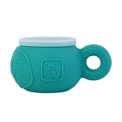 Ollie Elephant (Turquoise) Marcus & Marcus Silicone Snack Bowl (Multiple Variants) - Naked Baby Eco Boutique