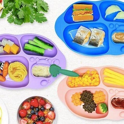 Marcus & Marcus Silicone Suction Divided Plate (Multiple Variants) - Naked Baby Eco Boutique