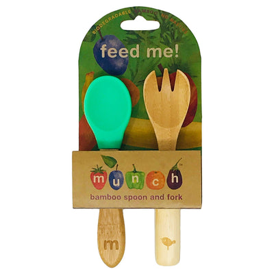 Munch Bamboo Baby Spoon and Fork - Naked Baby Eco Boutique