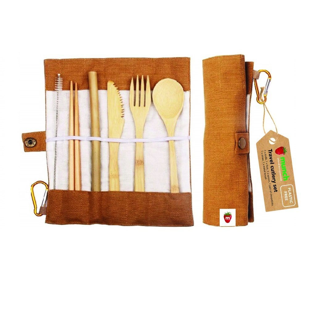 Munch Bamboo Travel Cutlery - Naked Baby Eco Boutique