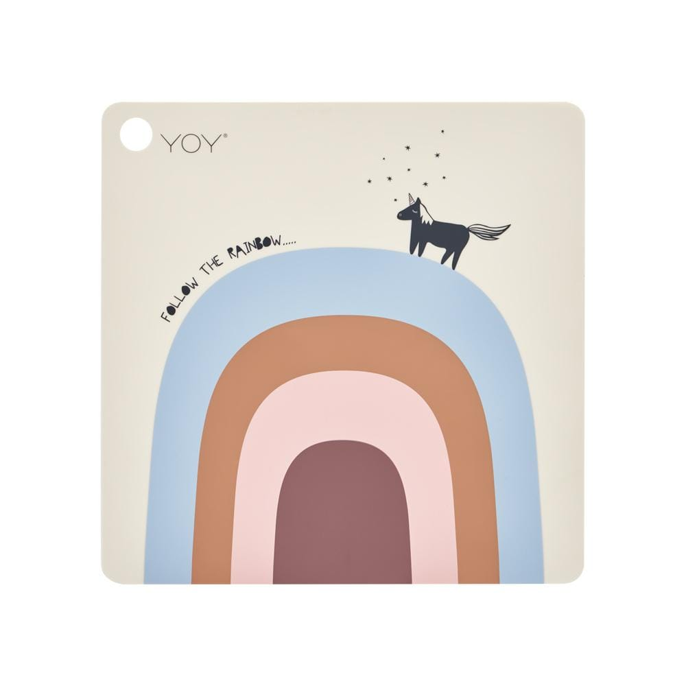 Follow the Rainbow OYOY Mini Square Silicone Placemat (Multiple Variants) - Naked Baby Eco Boutique