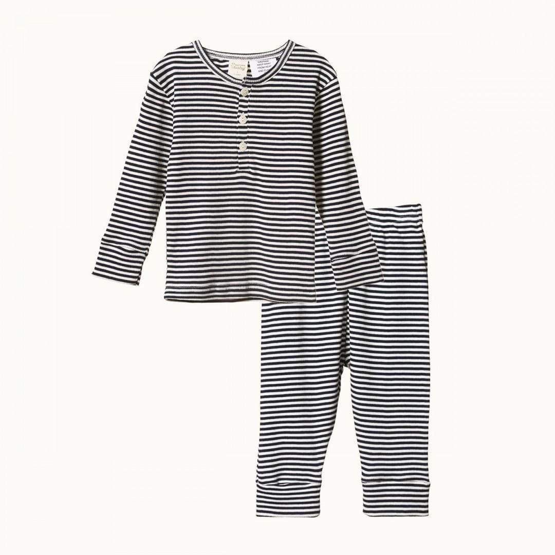 Nature Baby 2-Piece Organic Cotton Long-Sleeve Pyjamas - Naked Baby Eco Boutique