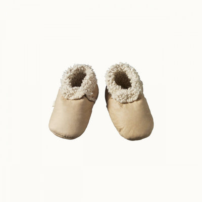 Cream / 0-3 Months Nature Baby Lambskin Booties (Multiple Variants) - Naked Baby Eco Boutique