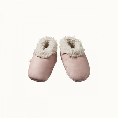 Rose Bud / 0-3 Months Nature Baby Lambskin Booties - Naked Baby Eco Boutique