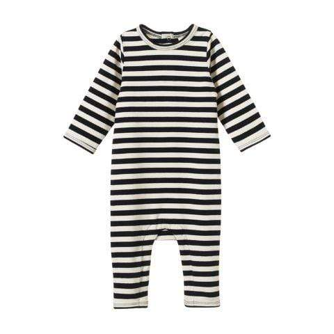 Nature Baby Organic Cotton Long Sleeve Quincy Romper - Naked Baby Eco Boutique