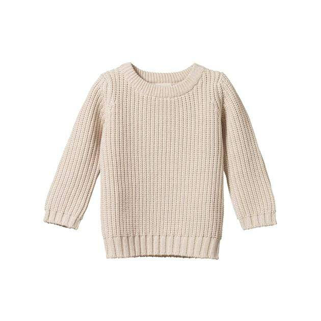 Nature-Baby-Organic-Cotton-Billy-Jumper-Oatmeal-Marl-Naked-Baby-Eco-Boutique