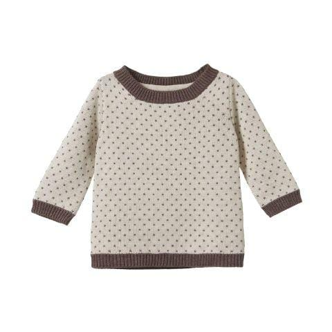 Truffle/Oatmeal Marl / 6-12 Months Nature Baby Organic Cotton Billy Jumper (Multiple Variants) - Naked Baby Eco Boutique