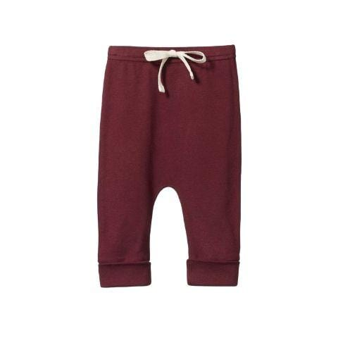 Elderberry / 0-3 Months Nature Baby Organic Cotton Drawstring Pants (Multiple Variants) - Naked Baby Eco Boutique