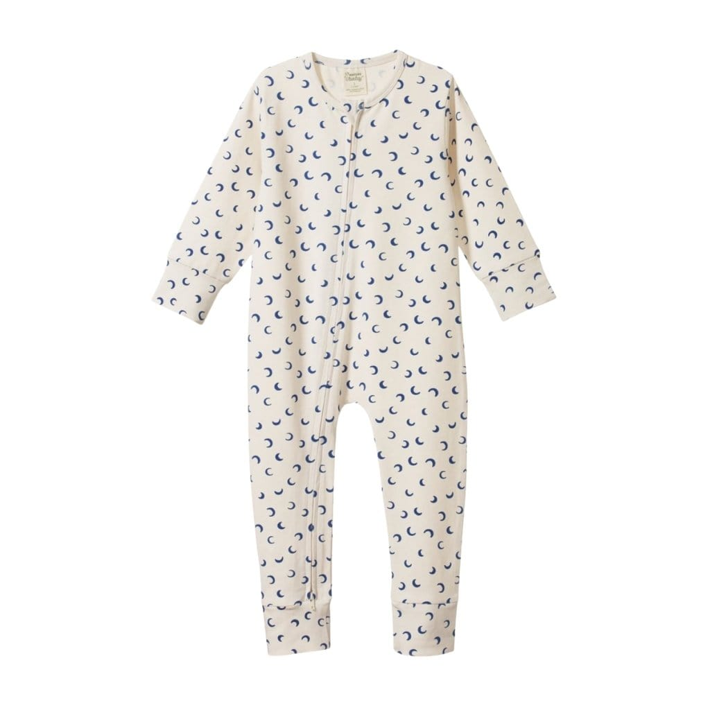 Mini Crescent Moon / 1 Year Nature Baby Organic Cotton Dreamlands Toddler Suit (Multiple Variants) - Naked Baby Eco Boutique