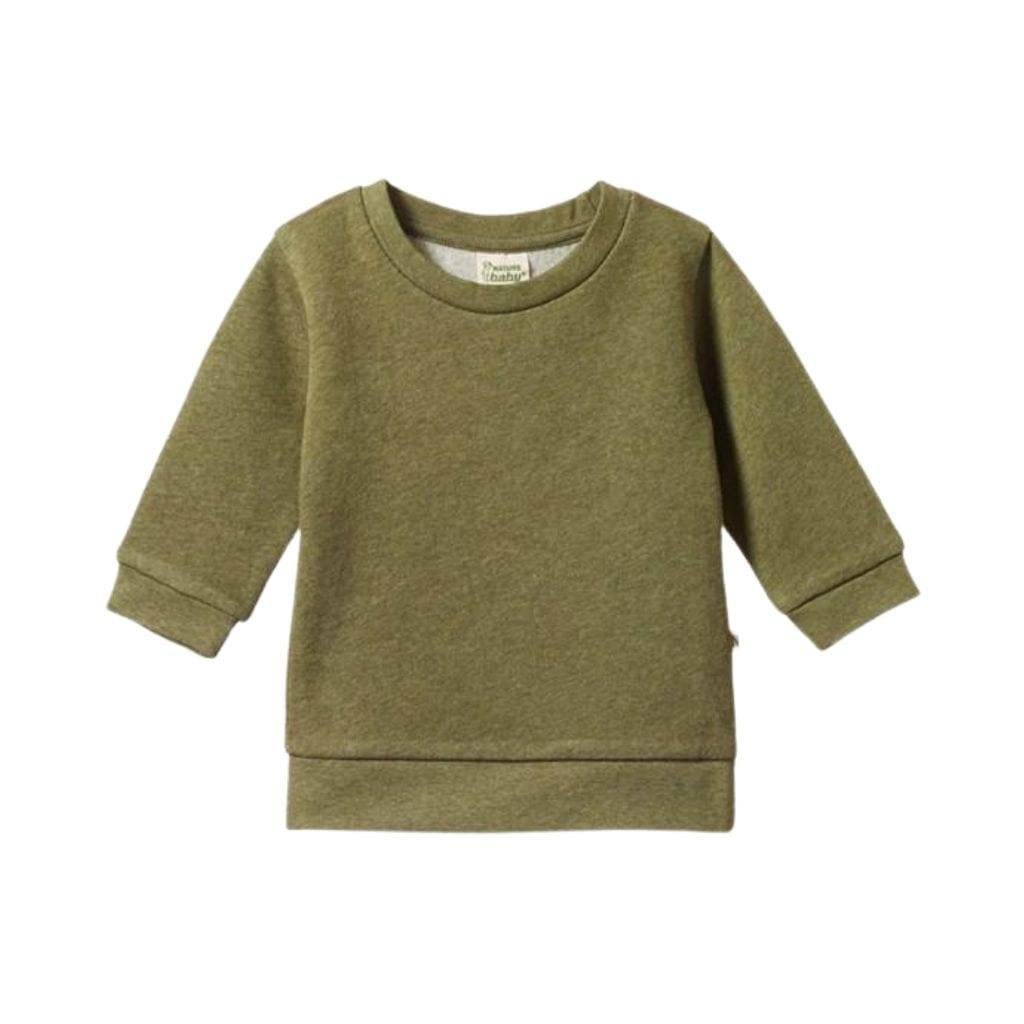 Nature-Baby-Organic-Cotton-Emerson-Sweater-Cypress-Marl-Naked-Baby-Eco-Boutique