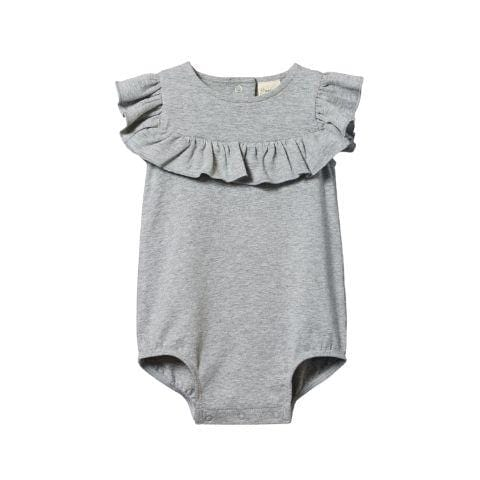Nature Baby Organic Cotton Frill Suit - Naked Baby Eco Boutique