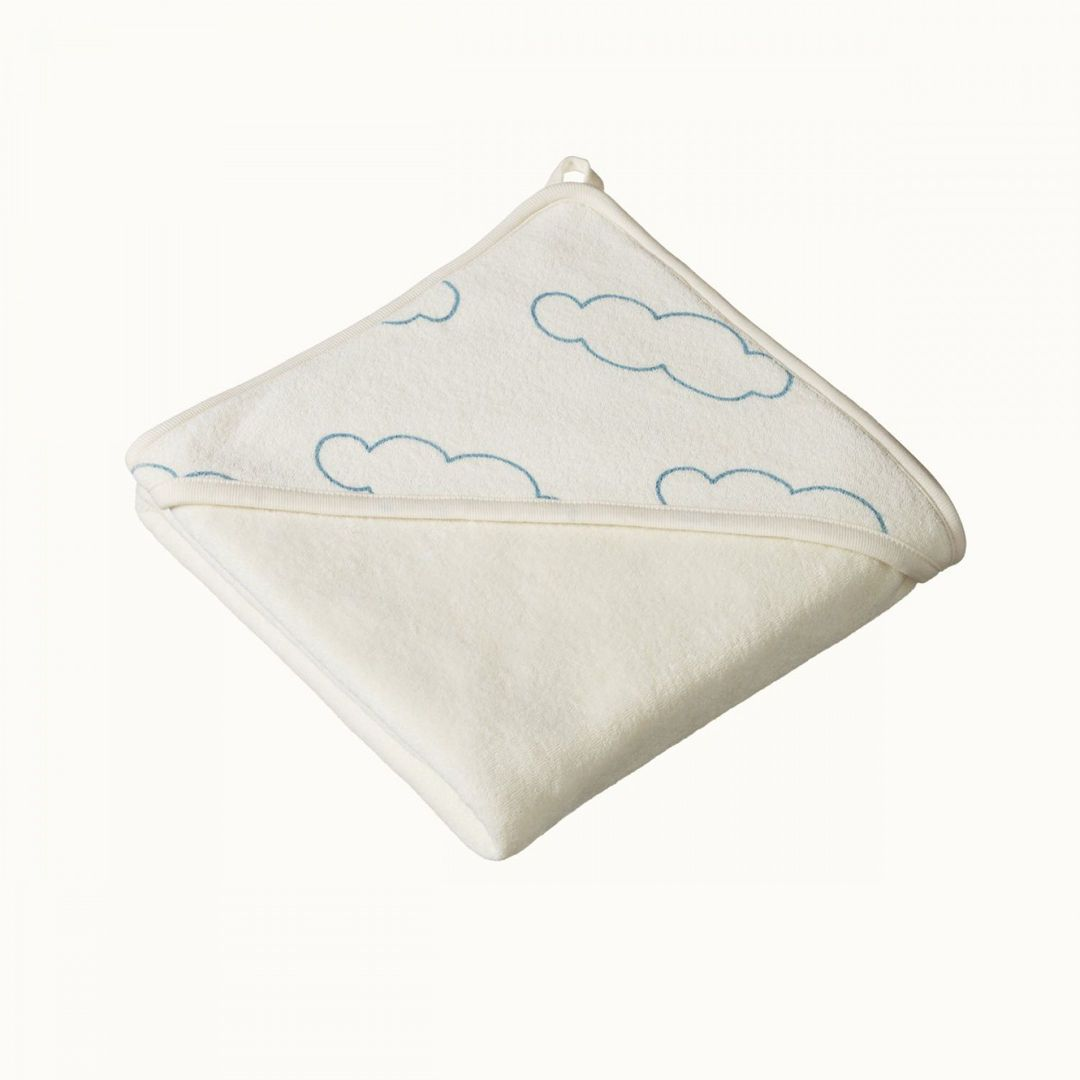 Clouds Nature Baby Organic Cotton Hooded Baby Towel (Multiple Variants) - Naked Baby Eco Boutique