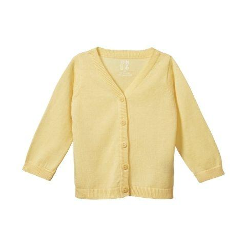 Lemon / 0-3 Months Nature Baby Organic Cotton Knit Cardigan (Multiple Variants) - Naked Baby Eco Boutique