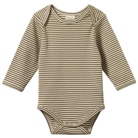 Nature Baby Organic Cotton Long Sleeve Onesie (Multiple Variants) - Naked Baby Eco Boutique