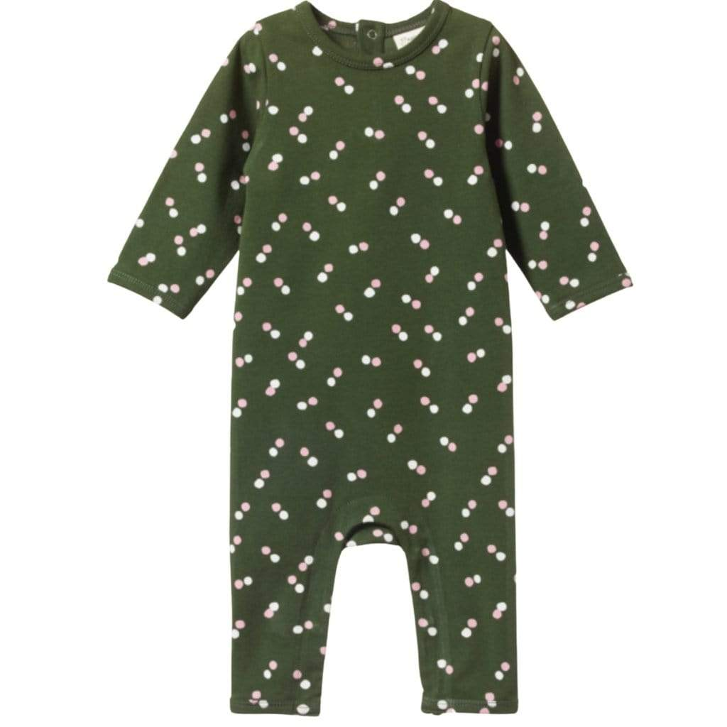 Nature Baby Organic Cotton Long Sleeve Quincy Romper (Multiple Variants) - Naked Baby Eco Boutique