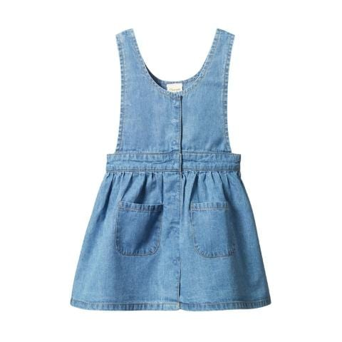Nature Baby Organic Cotton Pinafore Dress - Naked Baby Eco Boutique