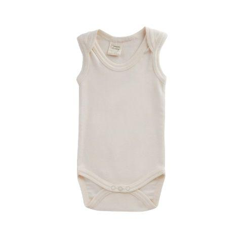 Nature Baby Organic Cotton Singlet Onesie (Multiple Variants) - Naked Baby Eco Boutique