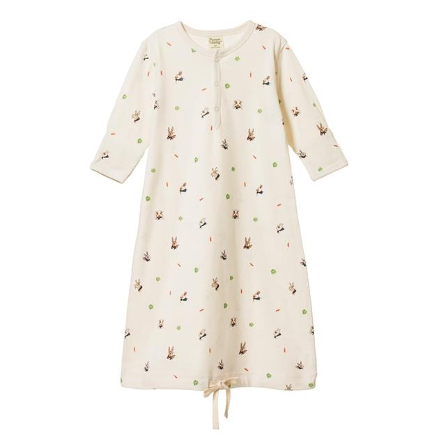 Bunny Garden / Newborn Nature Baby Organic Cotton Sleeping Gown (Multiple Variants) - Naked Baby Eco Boutique