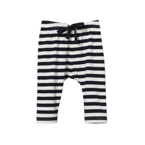 Navy Sea Stripe / 0-3 Months Nature Baby Organic Cotton Sunday Pants (Multiple Variants) - Naked Baby Eco Boutique