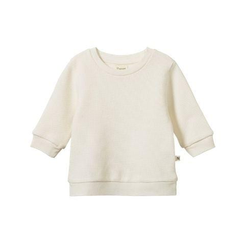 Nature Baby Organic Cotton Waffle Augie Sweater - Naked Baby Eco Boutique