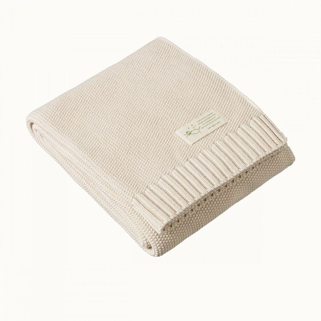 Nature Baby Seed Stitch Organic Baby Blanket - Naked Baby Eco Boutique