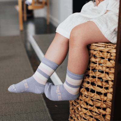 NEW 2020 Lamington Merino Wool Crew Socks (Multiple Patterns) - Naked Baby Eco Boutique
