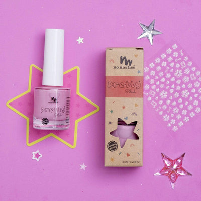 Pink No Nasties All Natural Peelable Nail Polish (Multiple Variants) - Naked Baby Eco Boutique