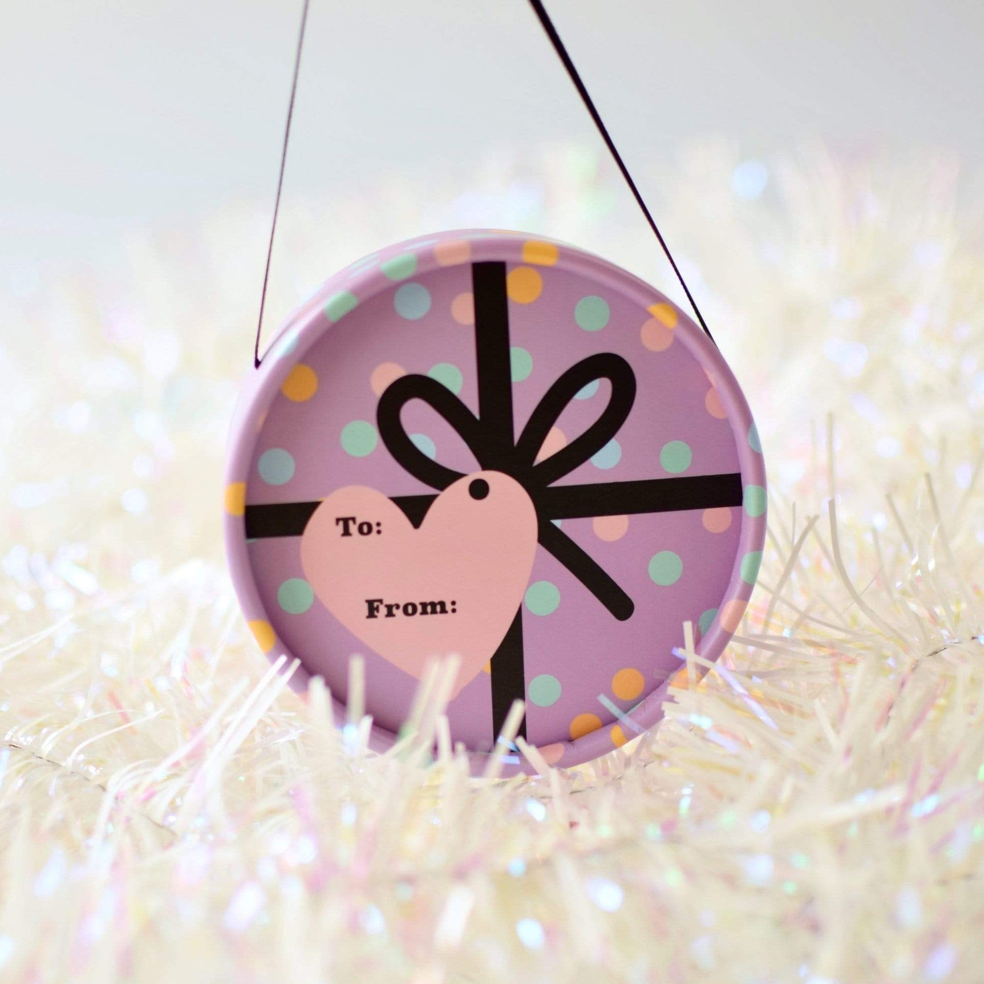 No Nasties Limited Edition Purple Gift Bauble - Naked Baby Eco Boutique